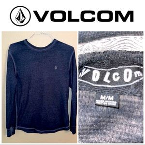 Medium Volcom Charcoal Gray LS thermal shirt